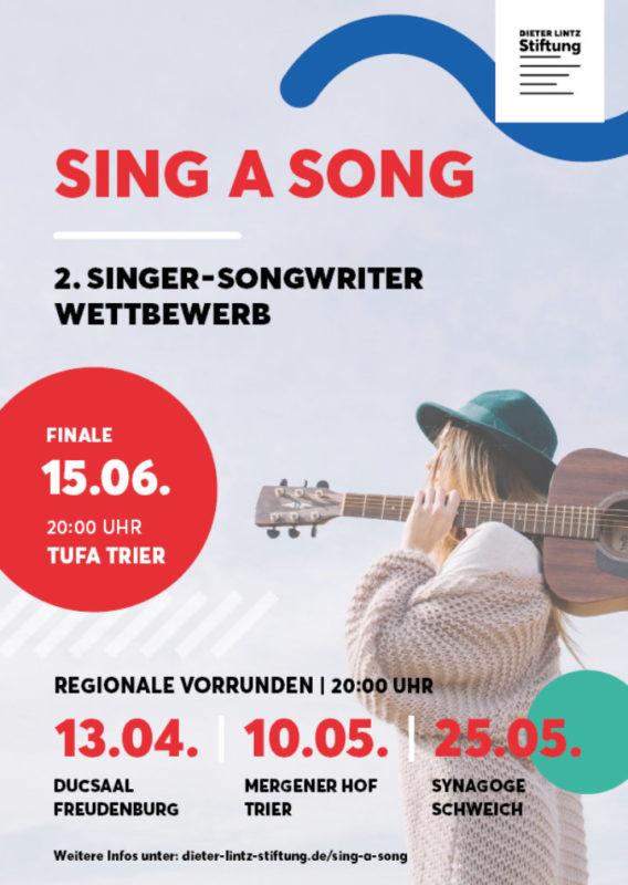 Sing a Song – 2. Singer-Songwriter-Wettbewerb @ Ehemalige Synagoge Schweich