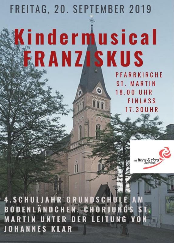 Kindermusical FRANZISKUS von Andreas Hantke @ Pfarrkirche St. Martin in Schweich