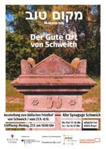 """""""Makom tov"""" – Eine Ausstellung zum jüdischen Friedhof Schweich @ Synagoge Schweich"""